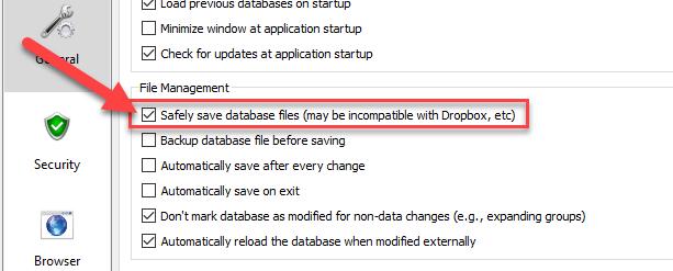 KeepassXC deletes database file after unsafe save on