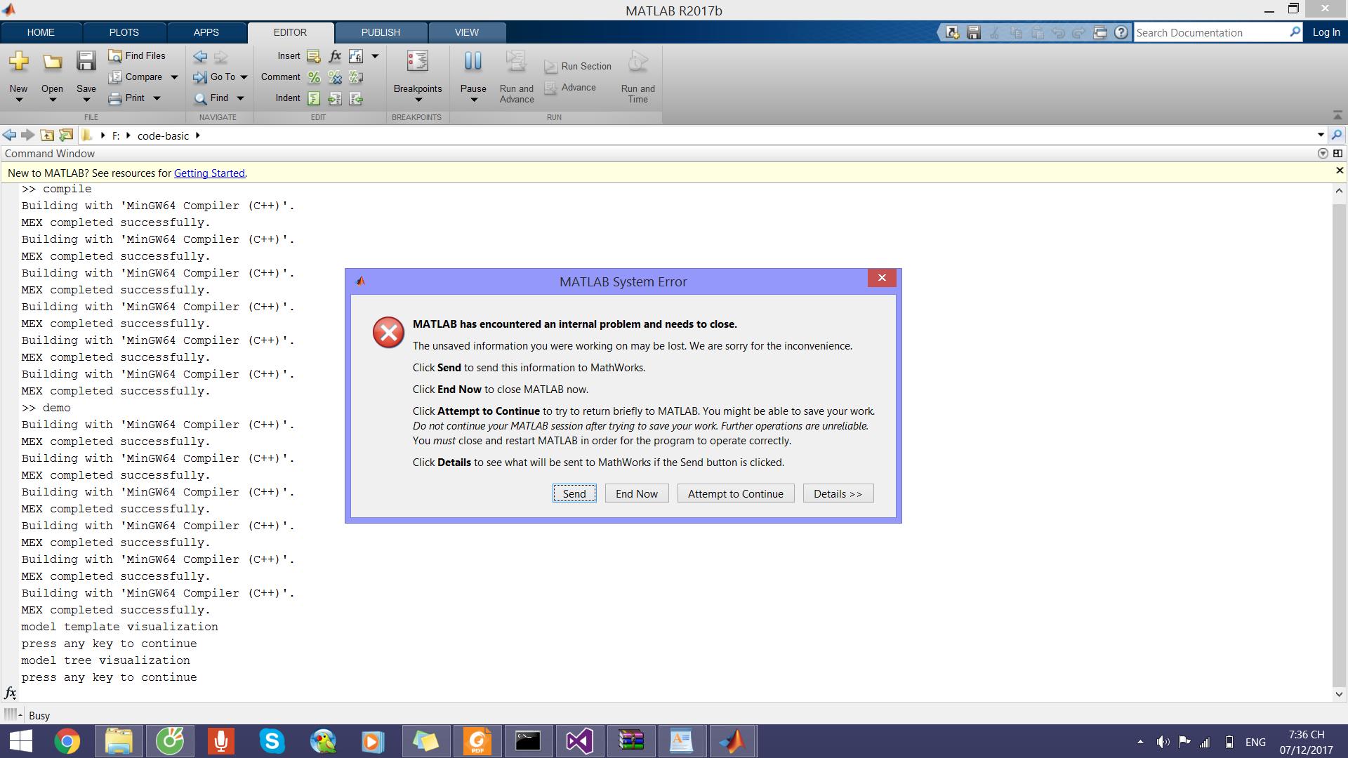 MATLAB craskes when running mex-file · Issue #1 · dykestra