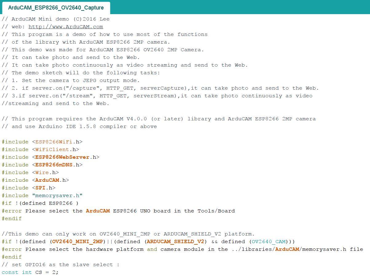 SPI1 interface Error! (OV2640 + ESP8266 Nano V2) · Issue