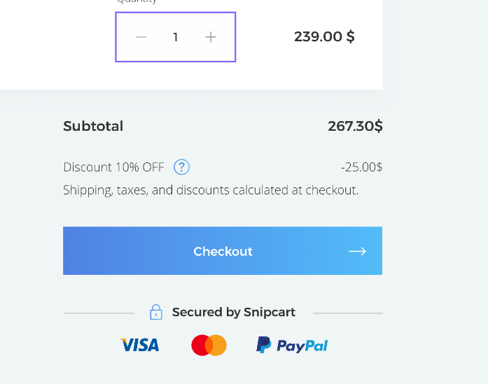 Display the name of promo code in the cart · Issue #10 · snipcart