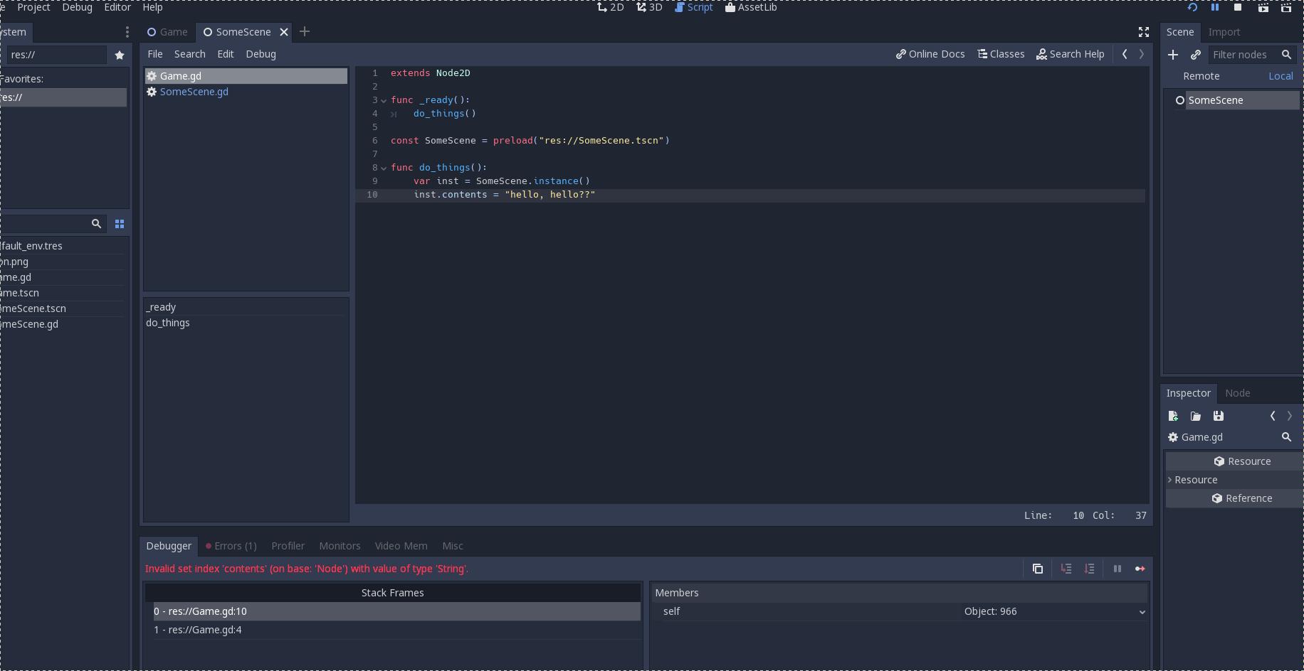 _init method that has parameters shows non-descriptive error · Issue