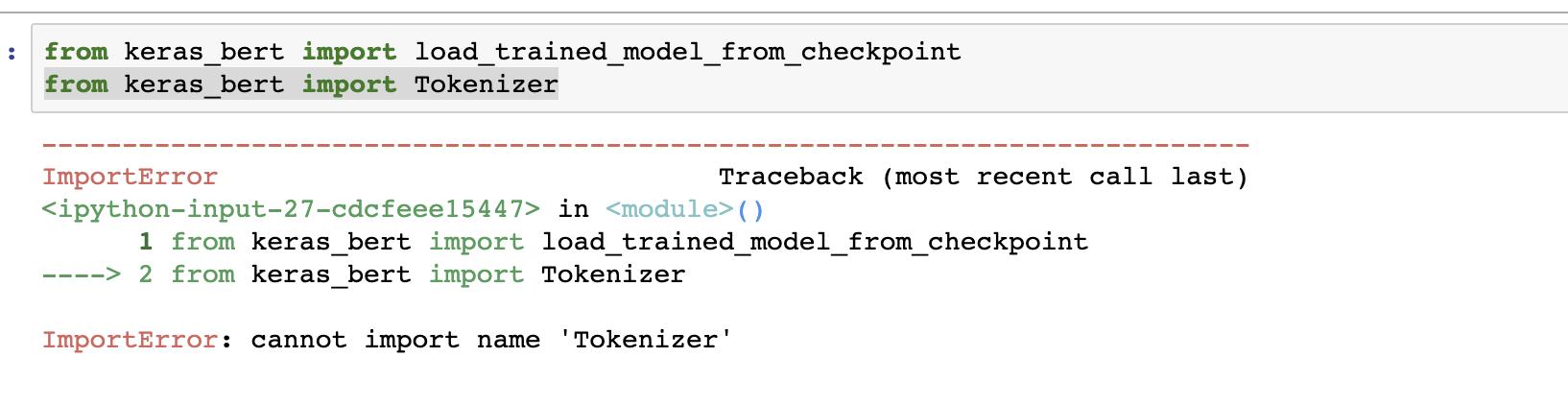 ImportError : cannot import name 'Tokenizer' · Issue #49
