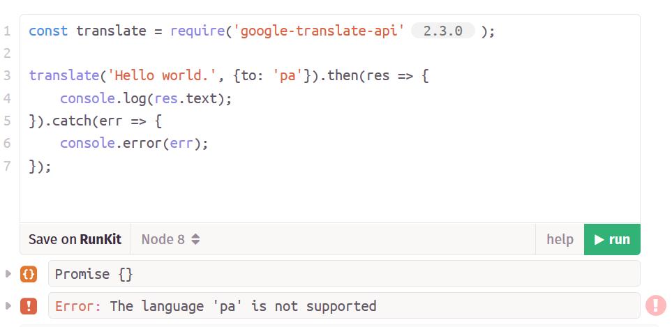 google-translate-api - Bountysource