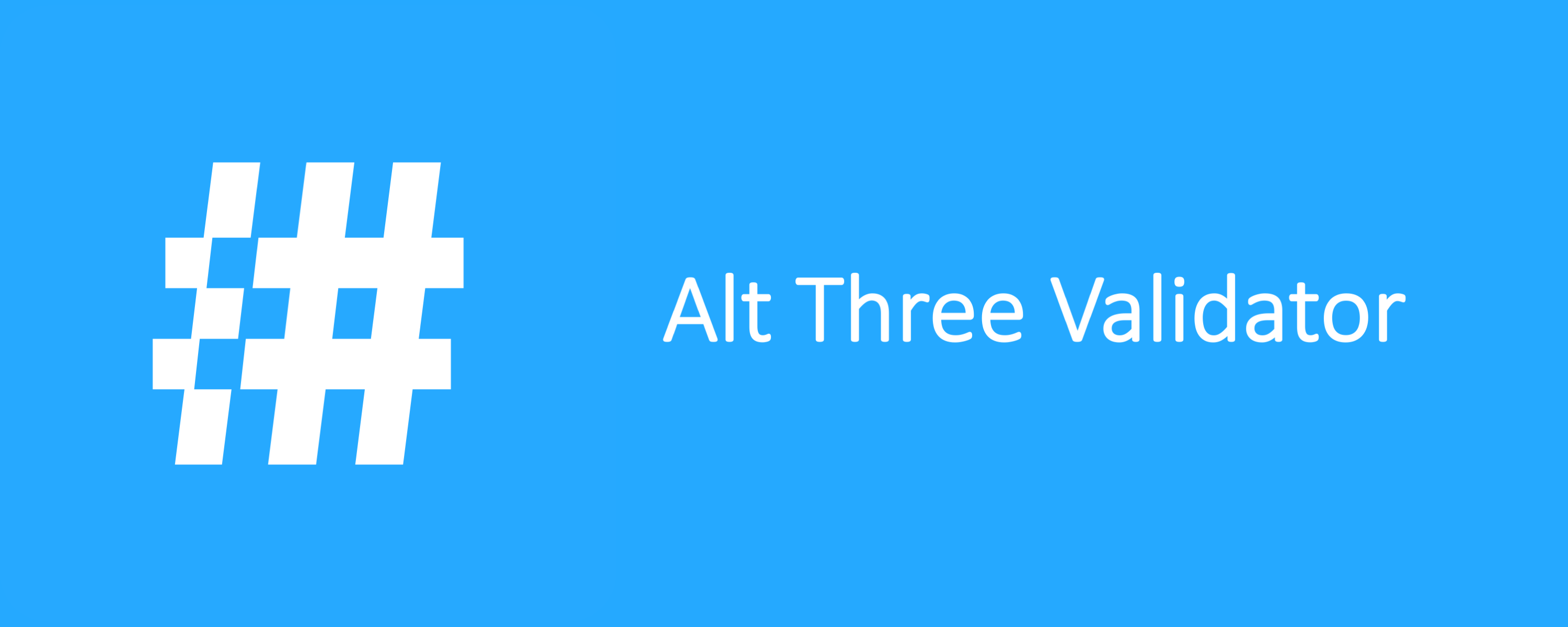 Alt Three Validator
