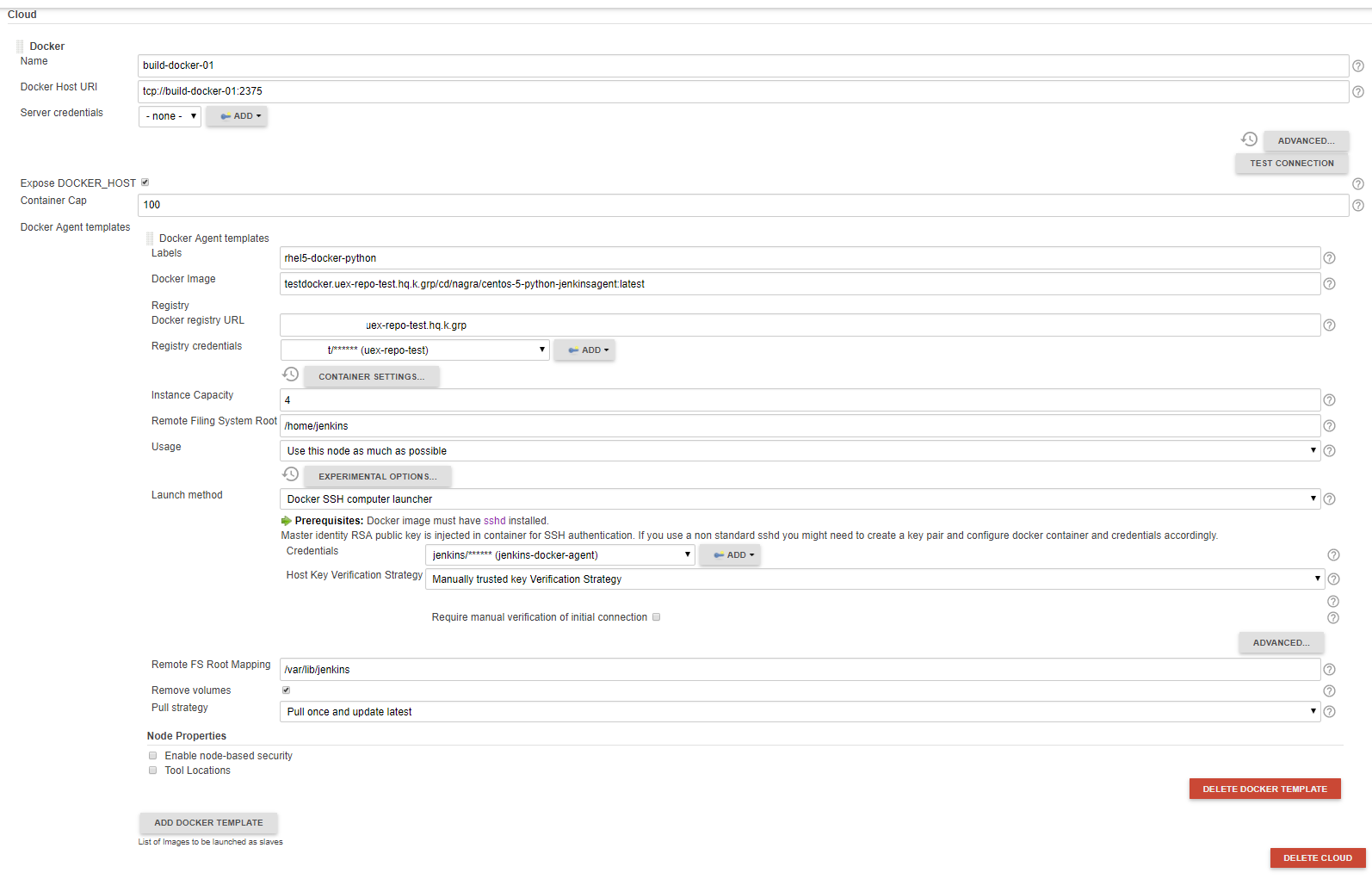 Docker plugin unable to pull image despite registry login