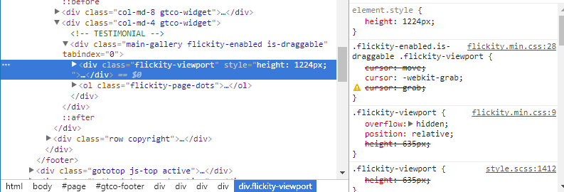 flickity-viewport can't edit · Issue #637 · metafizzy/flickity · GitHub