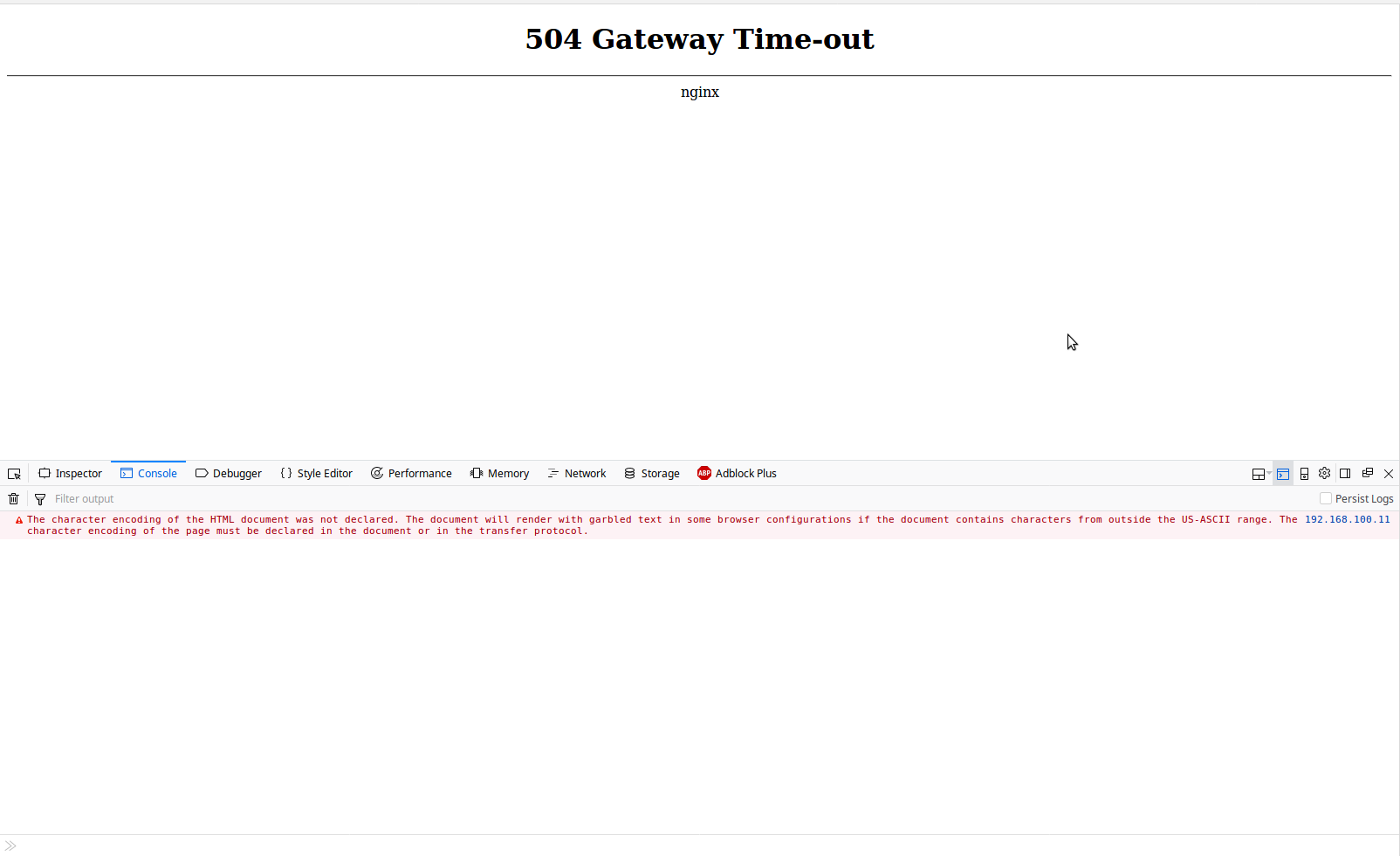 WebUI - 504 Gateway Time-out · Issue #70 · openmediavault