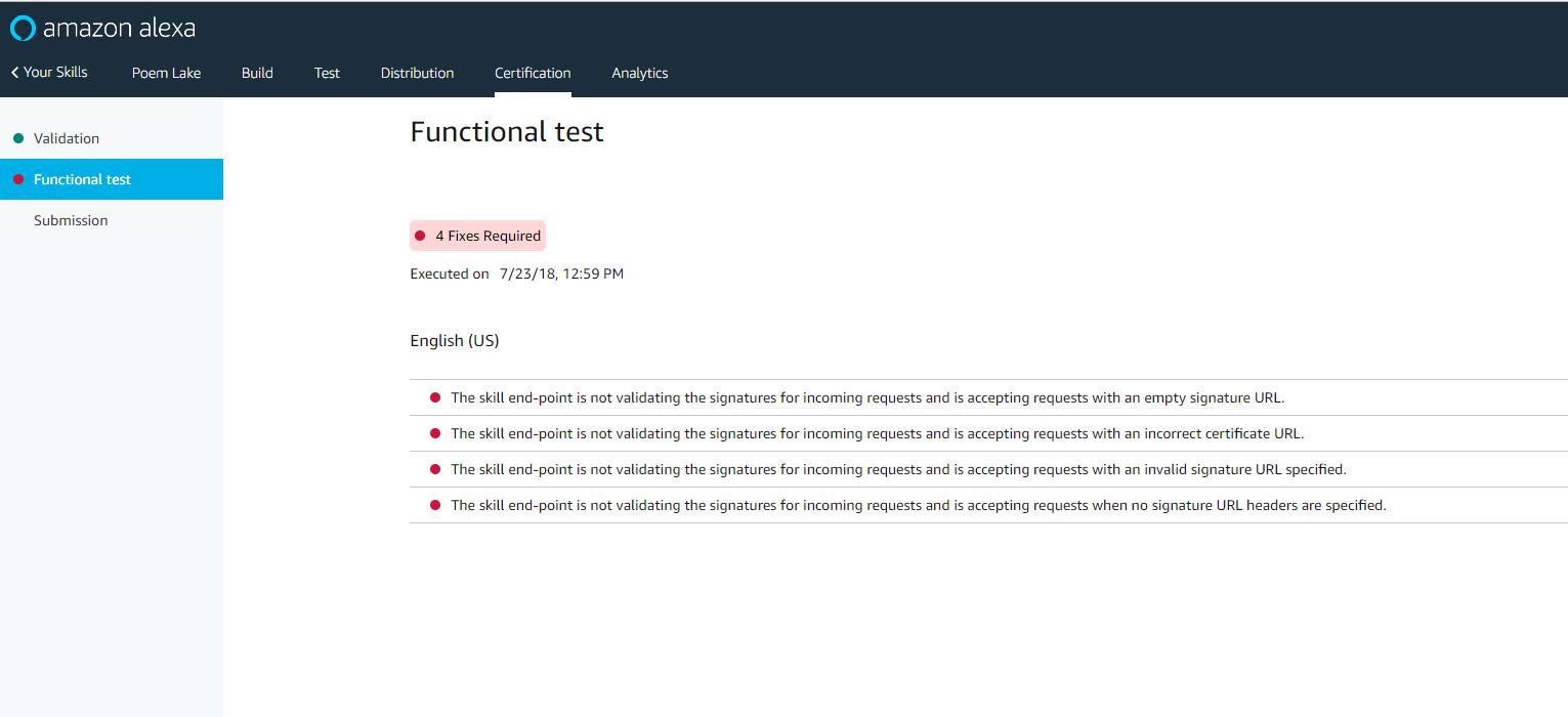 Provide code sample for verifcations (certificate url, signature url