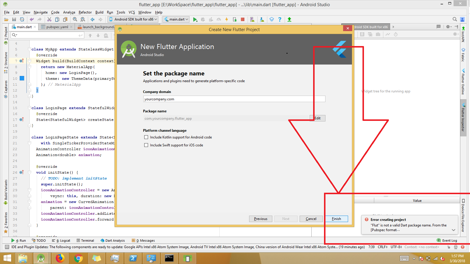 Project Location is misleading in project creation dialog on