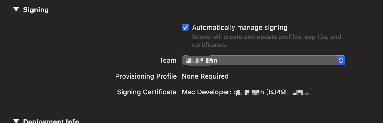 macos] Code signing should not be enabled for the example