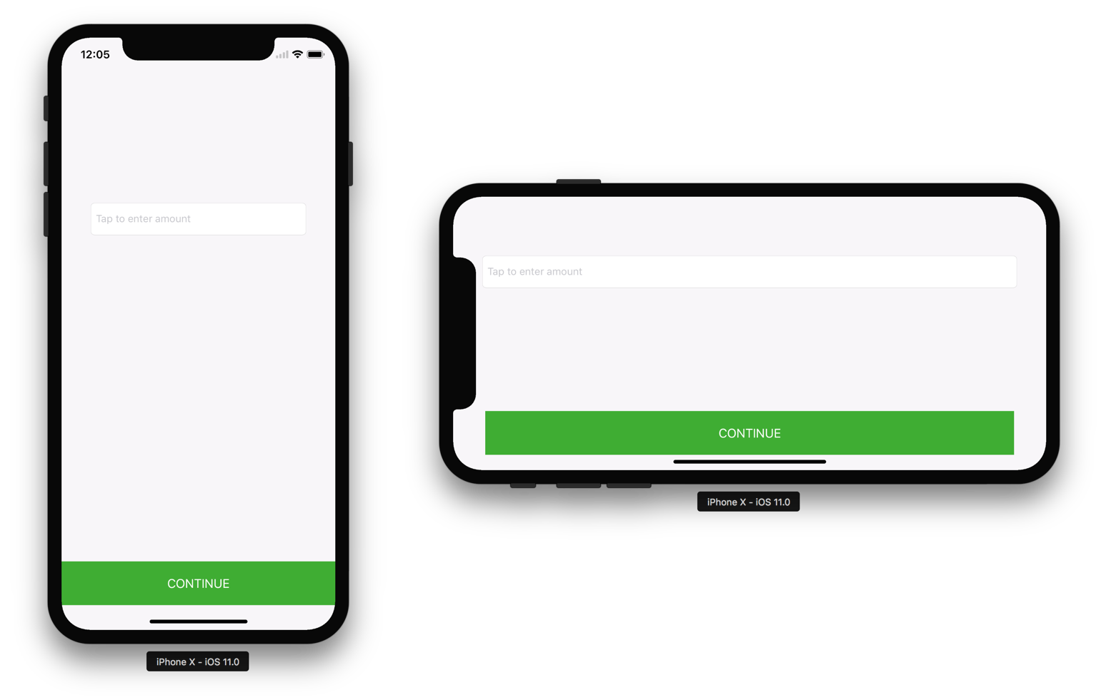 Example Project Screenshot - iPhone X