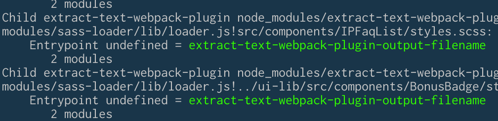 Entrypoint undefined = extract-text-webpack-plugin-output