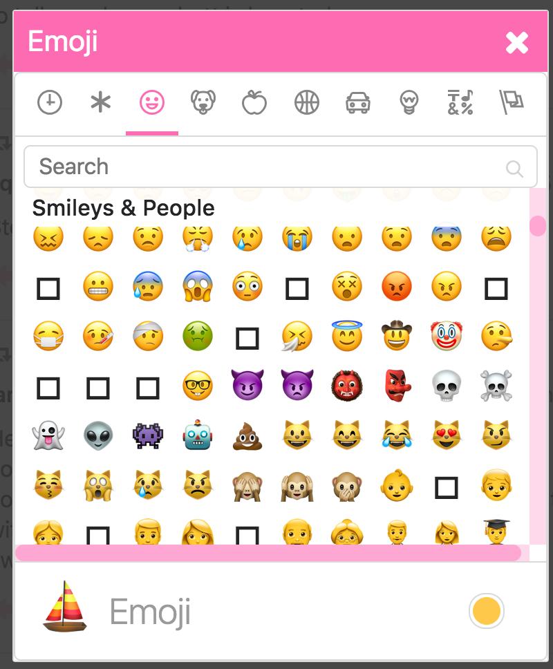 Remove unsupported native emoji from the emoji picker