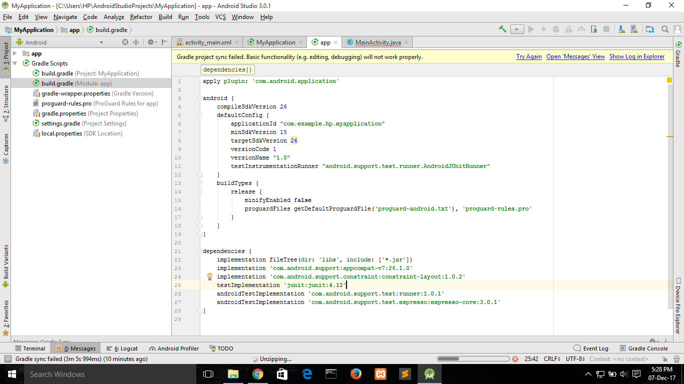 Could not find com android support:appcompat-v7:26 1 0