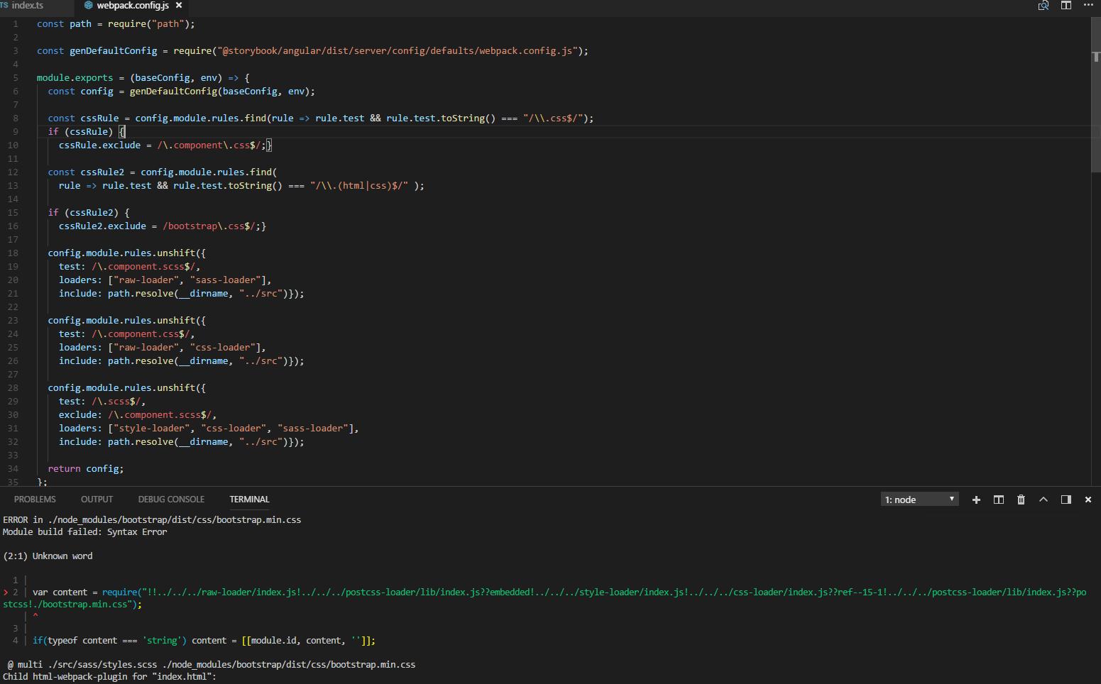 Angular webpack config SASS bug · Issue #3204 · storybookjs