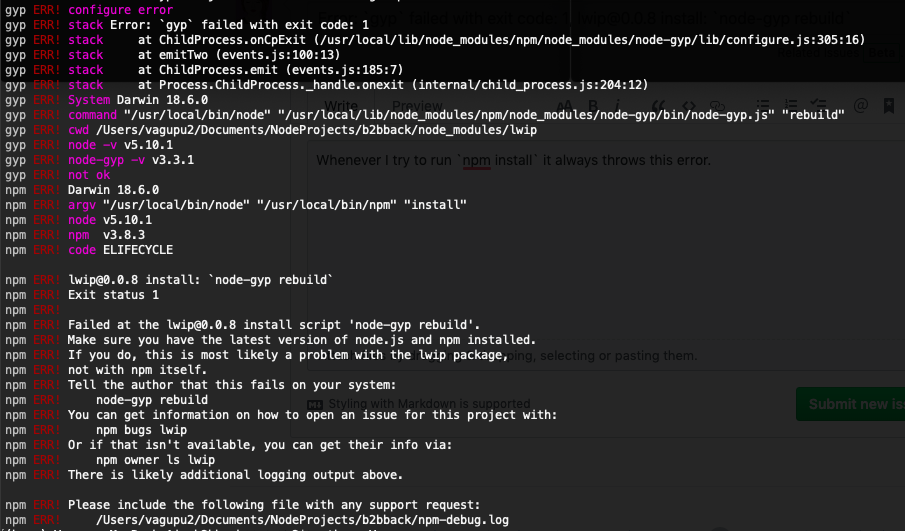 Installing jsdom on nodejs, node-gyp ERROR: spawn ENOENT - Stack ...