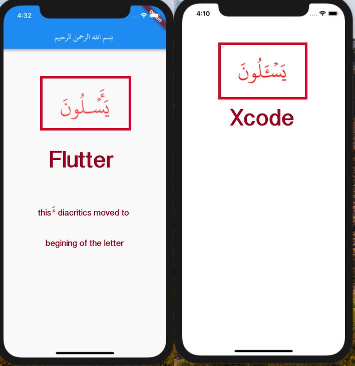Arabic Quran diacritics problem · Issue #16886 · flutter/flutter