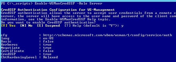 Image of Enable-WSManCredSSP Command