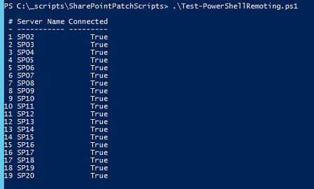 Image of Copy-SharePointUpdateToServer.ps1 Result