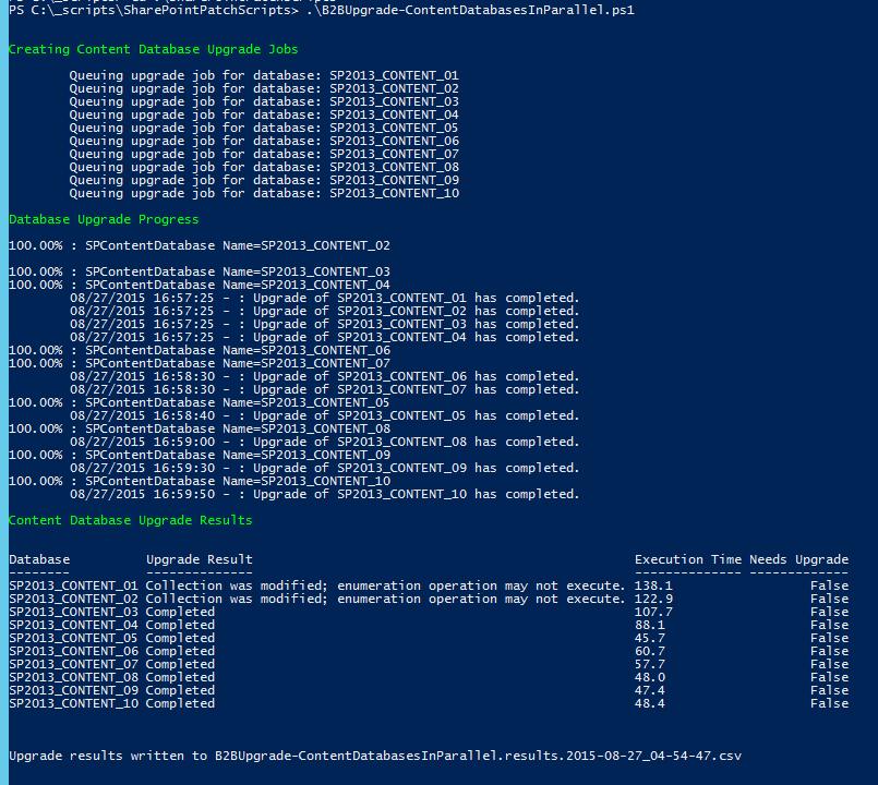 Image of Manage Database Upgrade Status