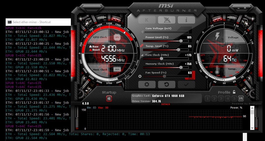 GTX 1060 6GB 9Gbps Low Hashrate · Issue #33 · nanopool/Claymore-Dual