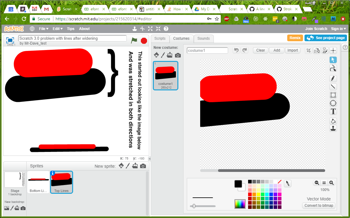 Scaled strokes become unscaled in Scratch 3 0 paint editor