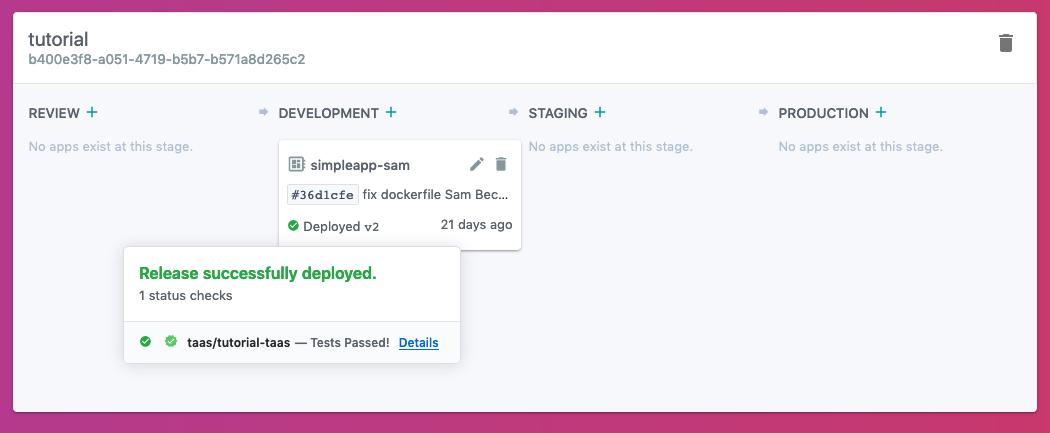Development App Recent Release