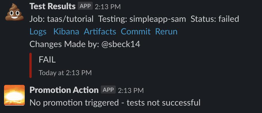 Slack Promotion Failed