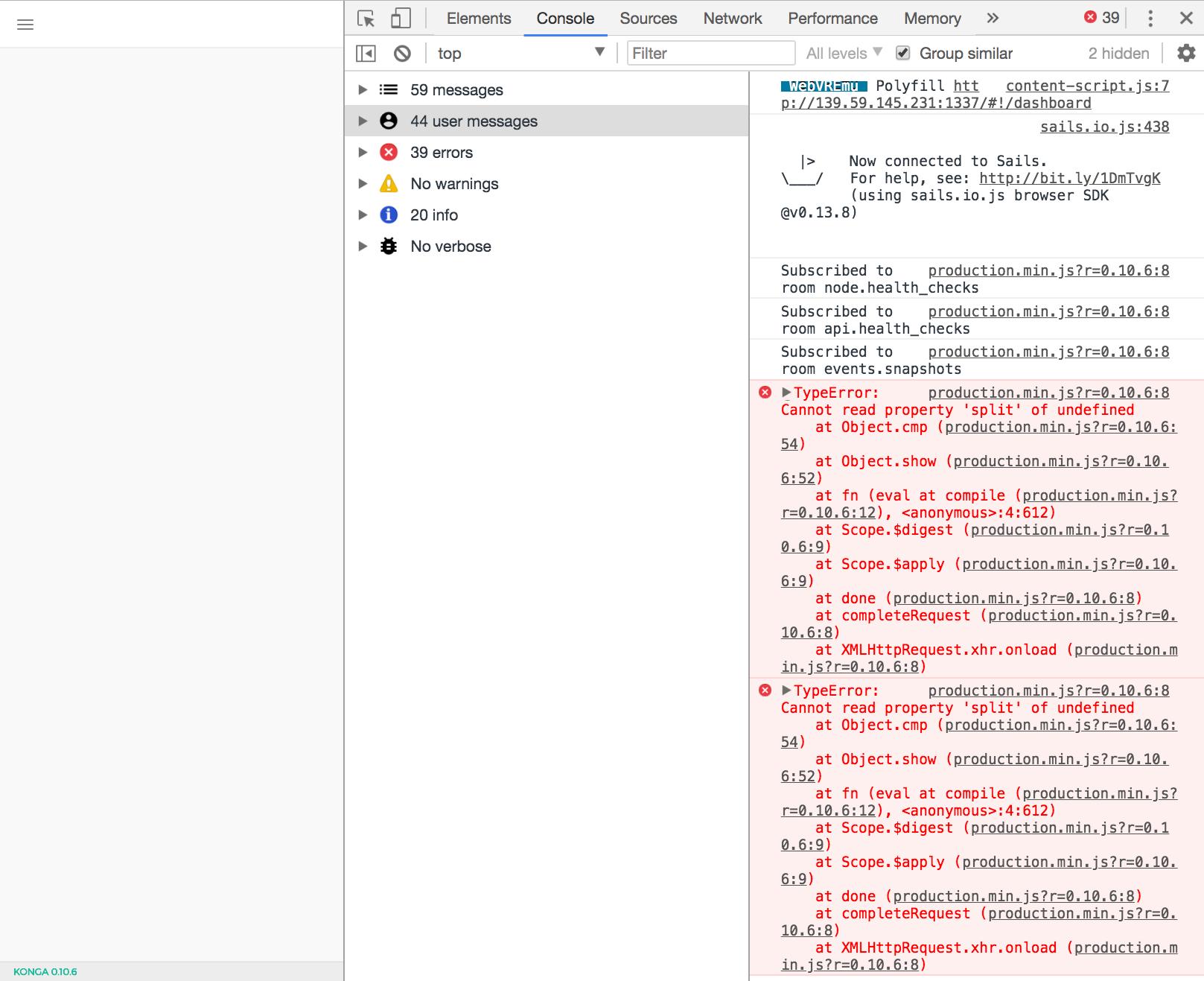 demo is broken · Issue #205 · pantsel/konga · GitHub