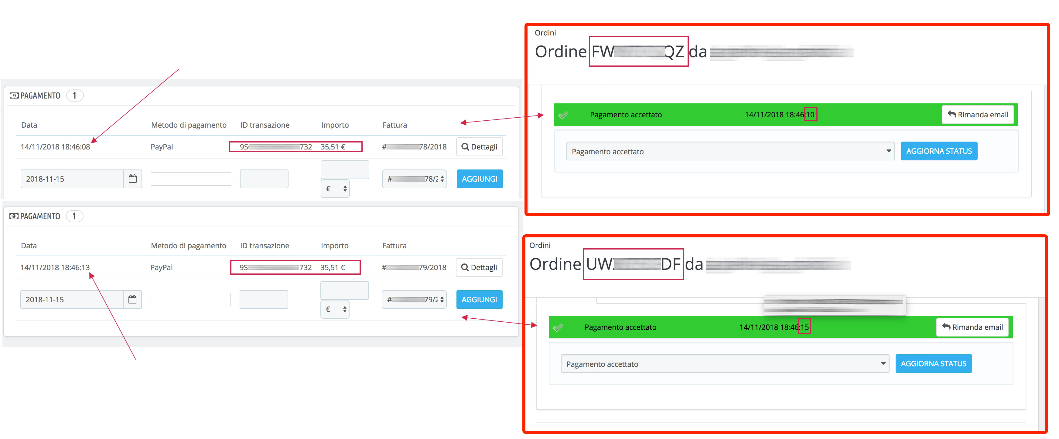 Double order with the same transaction ID (paypal payment