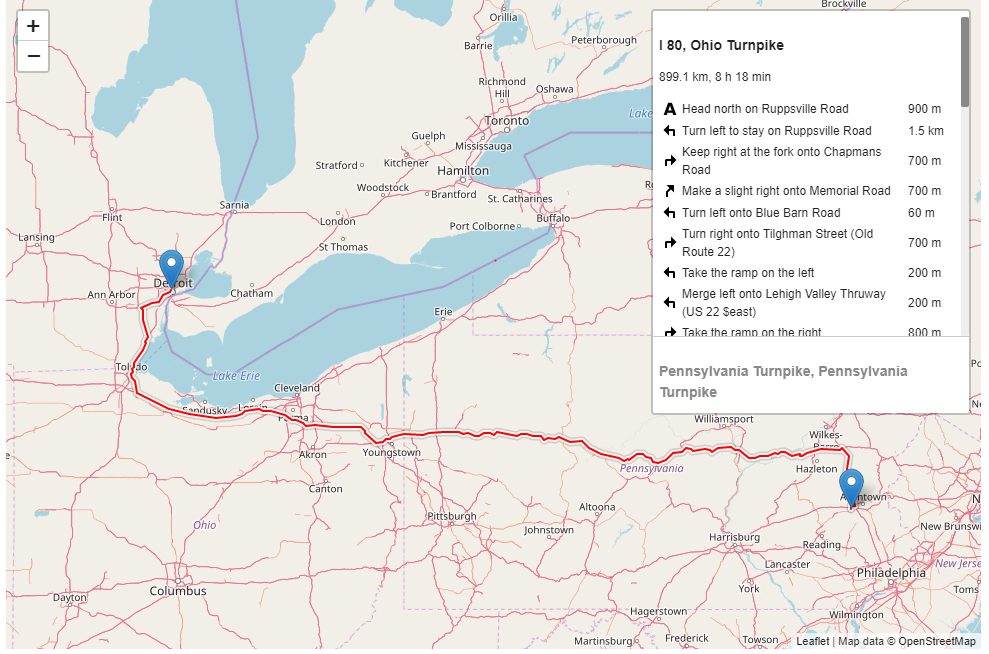 On zoom, the map shows two routes instead of one · Issue