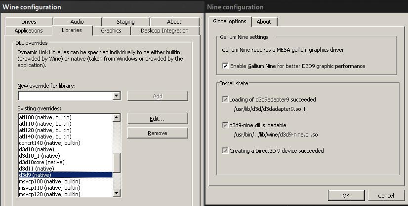 err:d3d9nine:executeCmdline CreateProcessA failed, error