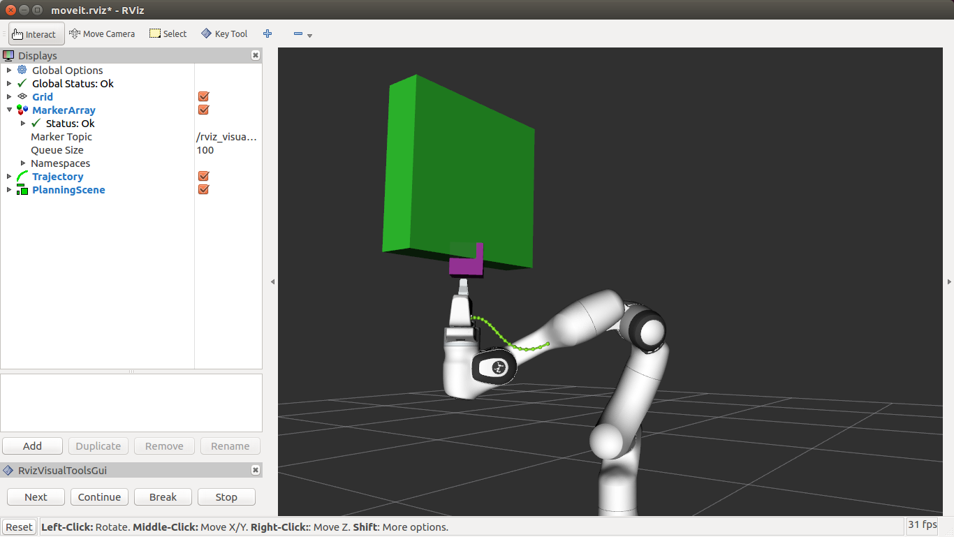 Attached collision objects are not collision checking