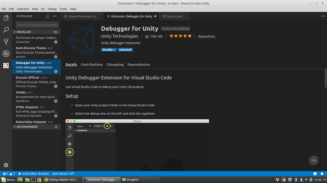 Debug adapter process has terminated unexpectedly on VScode linux