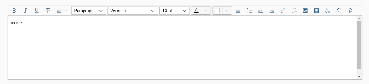 RichTextEditor disappears  (even in 1 60 official document