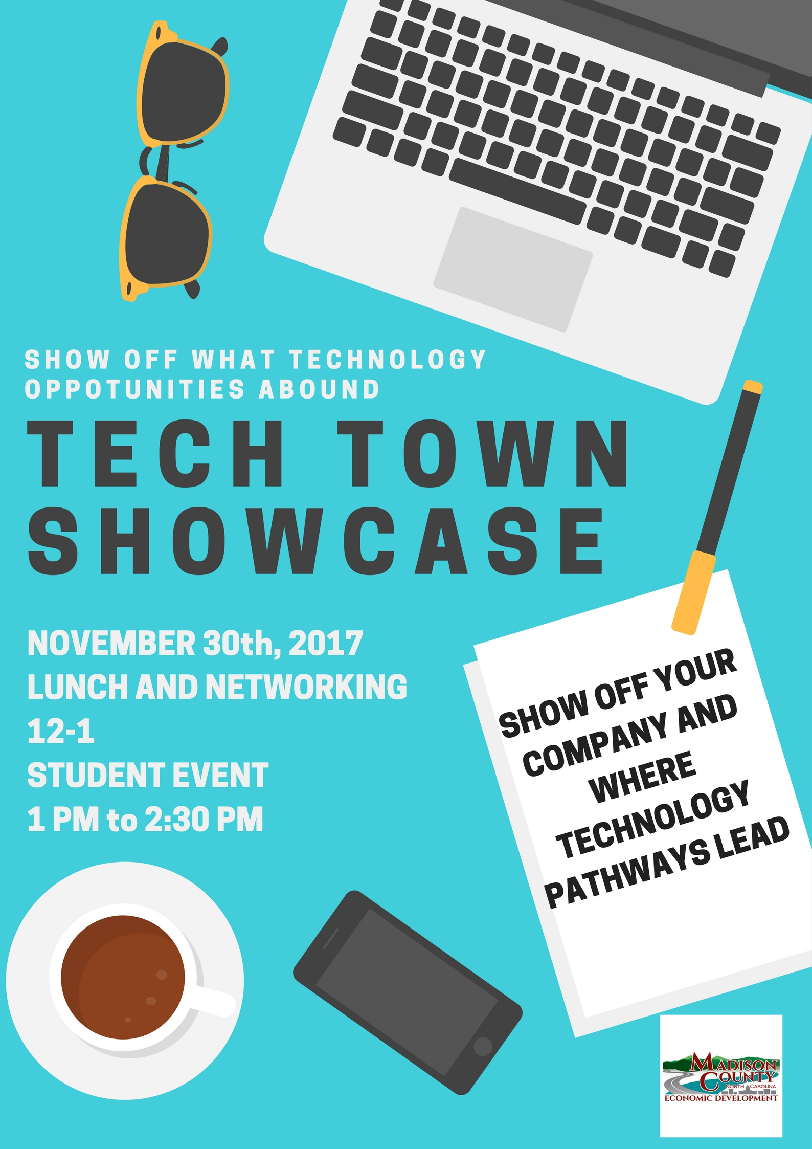 Tech Town Showcase Flyer