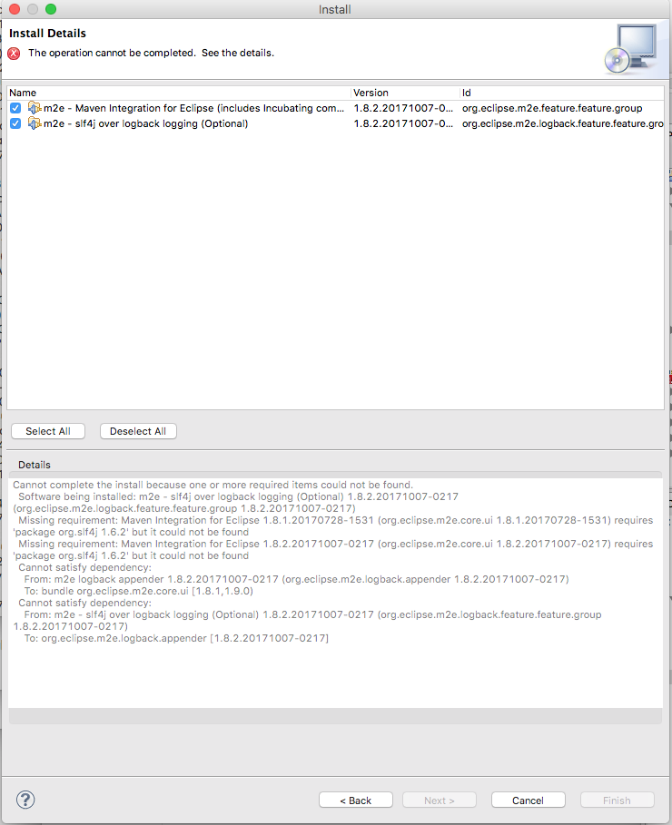 Cannot complete the provisioning operation while installing Maven