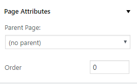 Why Page Template Option Is Not Available Under Page
