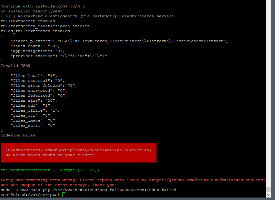 Uninstall / reinstallation of fulltextsearch fails · Issue