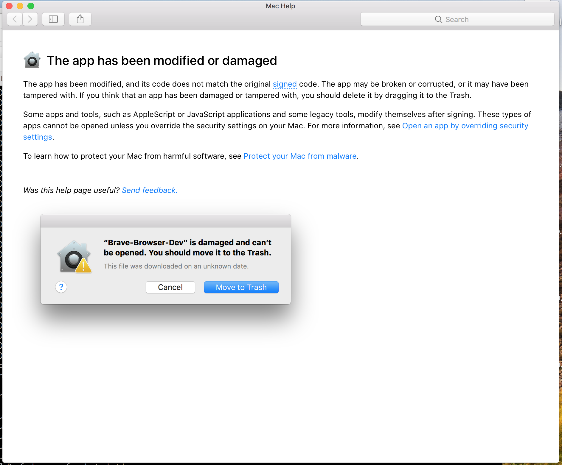 Mac update relaunch doesn't launch new version of Brave · Issue #977