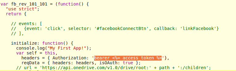 Access token not available in app js post OAuth · Issue #3