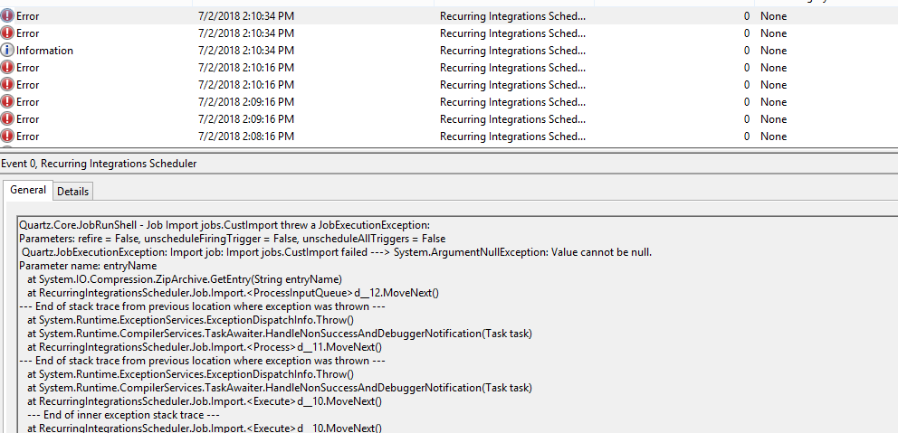 Import job - questions · Issue #52 · microsoft/Recurring