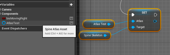 UE4] Request: set up the atlas and skeleton data assets so