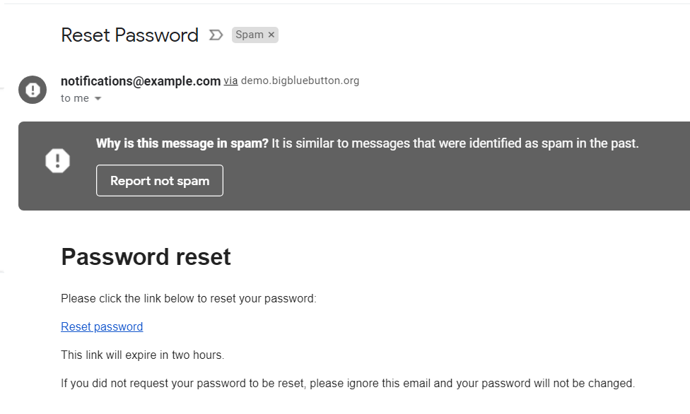 Password reset e-mails getting into SPAM folders · Issue