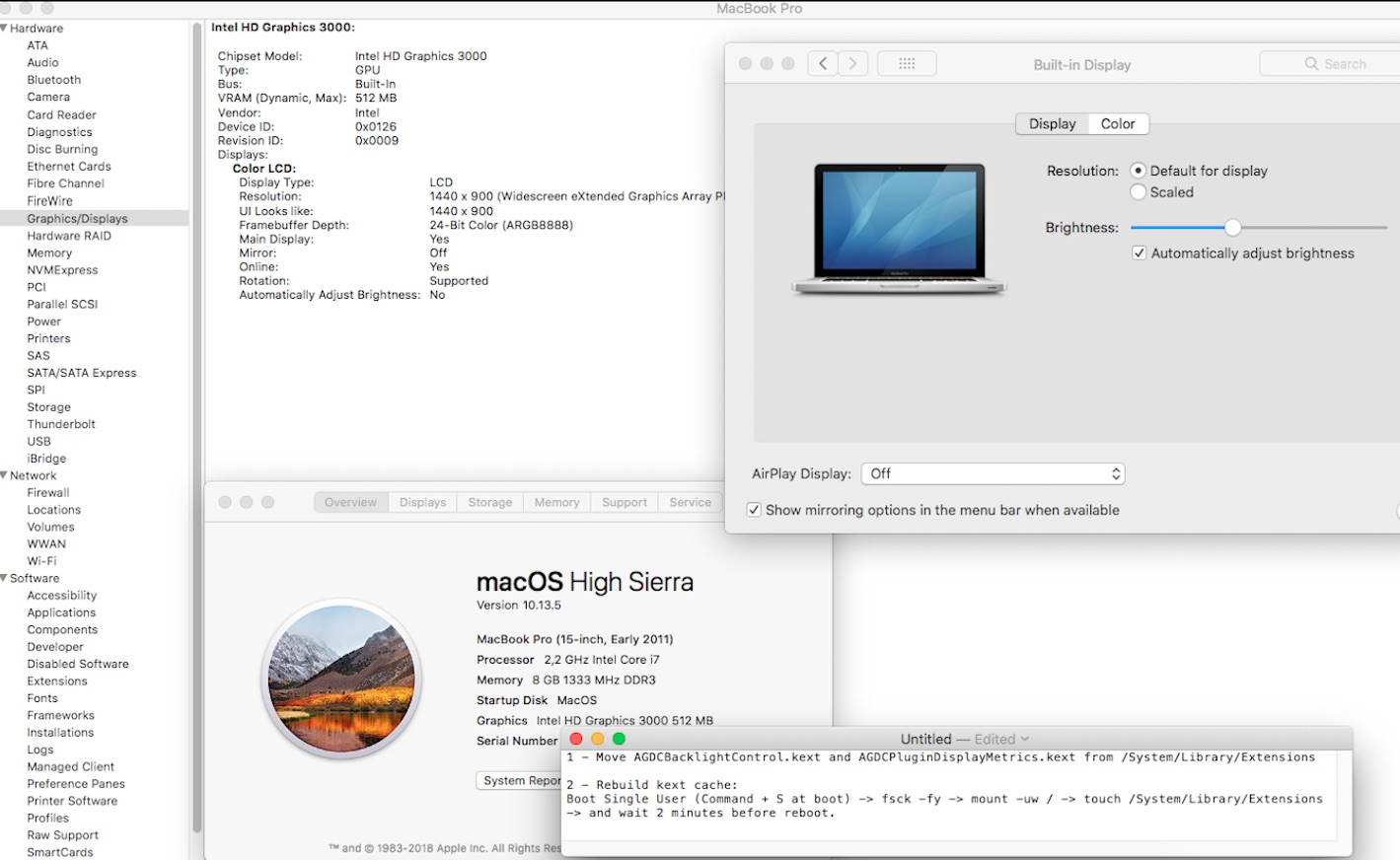 Macbook Pro 2011 - Disable AMD GPU · GitHub