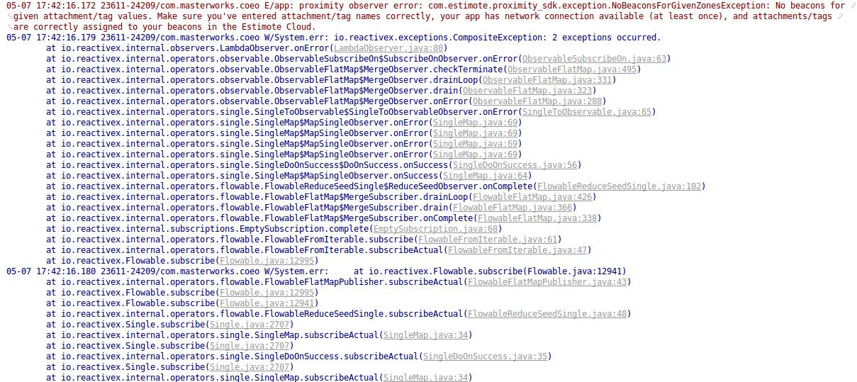 proximity observer error · Issue #49 · Estimote/Android