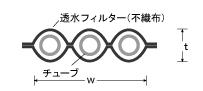 モノドレン断面図