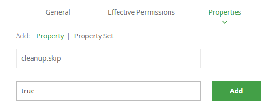 cleanup/artifactCleanup: 'cleanup skip' property support