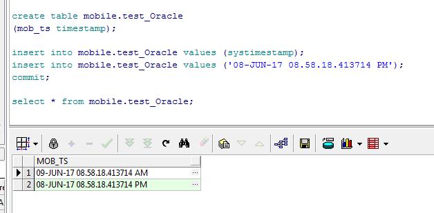 Conversion of oracle timestamp to postgres timestamp