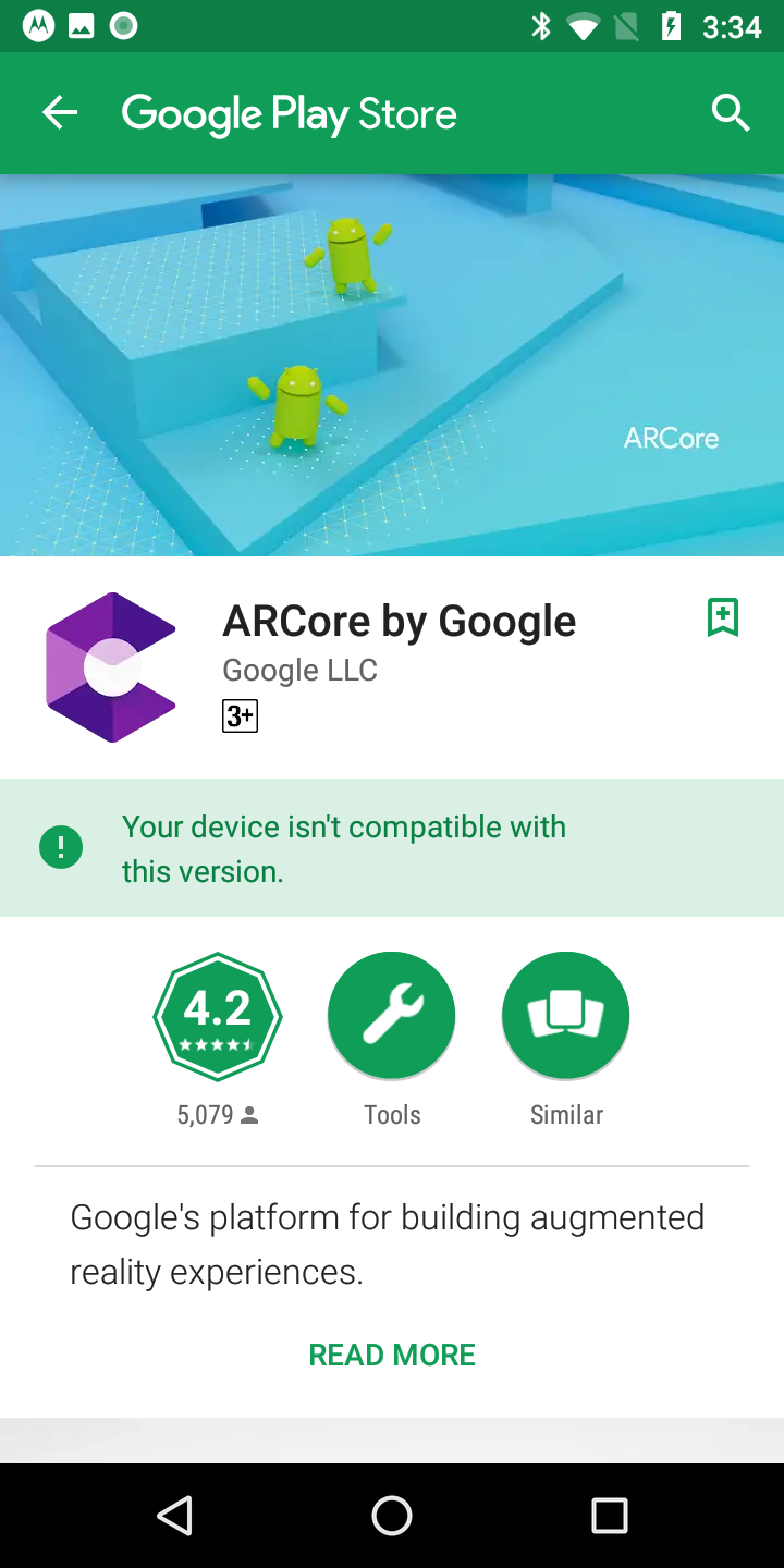 Moto G6 play not supporting AR Core · Issue #534 · google-ar